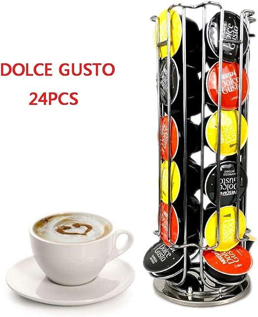 CYYMY Rotación de 360 ° 24 Dolce Gusto Soporte de Cápsula Café ...