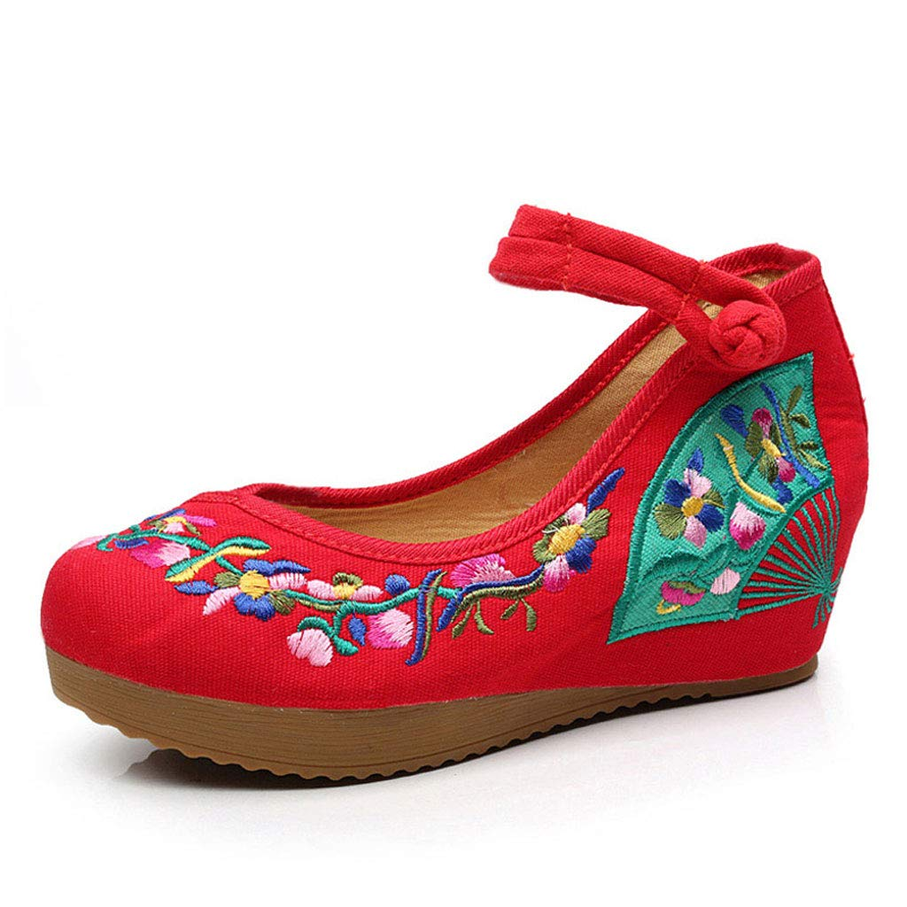 XHX Red, Mode Dames Chaussures brodées (Couleur : : Red, Taille Red : 35) Red b994fab - piero.space