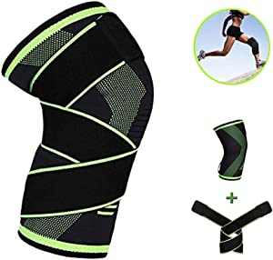 Knee Brace with Strap for Men & Women Best Knee Sleeves...