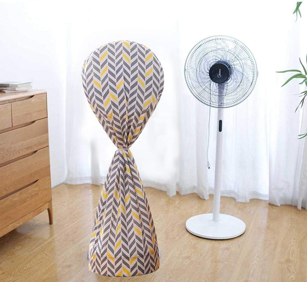 Terynbat Fan cover, cotton and linen fan cover dust cover floor-standing household all-inclusive electric fan cover dust cover round cover floor fan cover Rye Long
