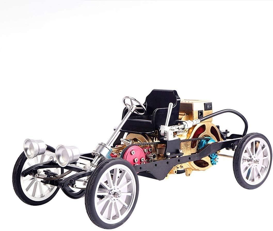 FANPING Solo Cilindro del Motor Stirling Kit, Todo Metal sin Montar Stirling Motor Modelo Mini Toy Car Educación Física