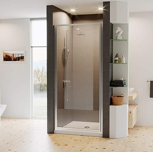 Coastal Shower Doors L31.66B-C Legend Series Framed Hinge Shower Door with Clear Glass, 31 x 66, Chrome