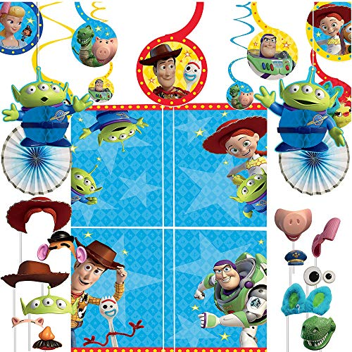 Party City Toy Story 4 Decorating Party Supplies, 37 Pieces, Includes Hanging Decorations, Scene Setter, and Photo Props -