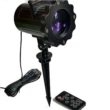 UICICI Proyector de luz LED con control remoto, proyector de ...