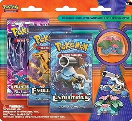Pokemon Mega Venusaur & Mega Blastoise Collectors Pin 3-Pack ...