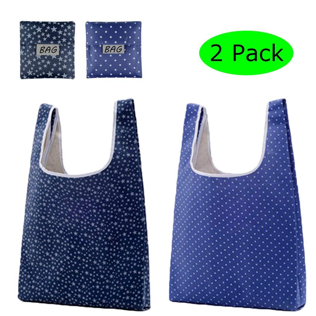 値引 再利用可能な買い物袋 6枚セット 2 折りたたみ式 Bags トートバッグ 洗濯可能 丈夫 丈夫 軽量 ブルー Bag-HDBMERFCV9 B07JZ9H8RK Reusable Grocery Bags 2 PACK Reusable Grocery Bags 2 PACK, Reggie Shop:1747207b --- by.specpricep.ru