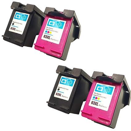 QINK 4 Pack - Alto rendimiento remanufacturados cartucho de tinta ...