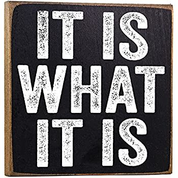 Amazoncom Make Em Laugh It Is What It Is Wooden Sign Home Kitchen