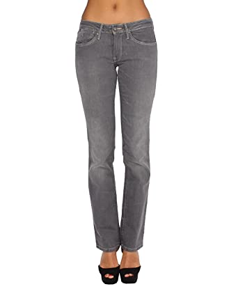 cf31f4fd6e23 PEPE JEANS - Women s Jeans WESTEND 000 - Regular - Straight - Non Stretch -  gray