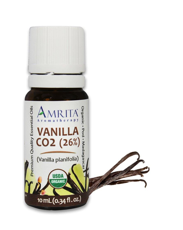 Vanilla CO2, 26% vanillin Essential Oil (Vanilla planifolia) - USDA Certified Organic - Pure & Therapeutic Grade - SIZE: 3ML