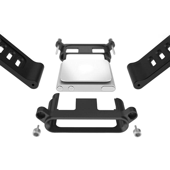 55fcb2aacdf58 Alienwork Pod2Watch bracelet de montre pour iPod nano 6 band Kits Aluminium  noir AN601A-06
