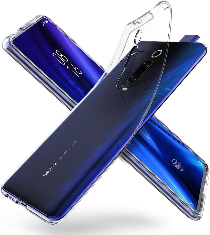 ORNARTO Funda para Xiaomi Mi 9T, Mi 9T Pro Transparente Delgada Silicona Flexible Ajuste Proteger Caso Absorción de Golpes Parachoques Protective Carcasa para Xiaomi Mi 9T/9T Pro(2019) 6.39
