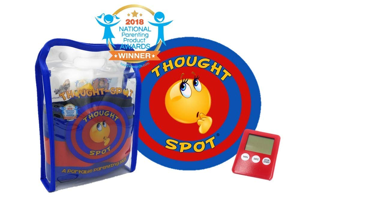 Thought-Spot – A Portable Parenting Time Out Mat with Digital Timer- 24 Inch Diameter Made from Recyclable Non-Toxic Materials
