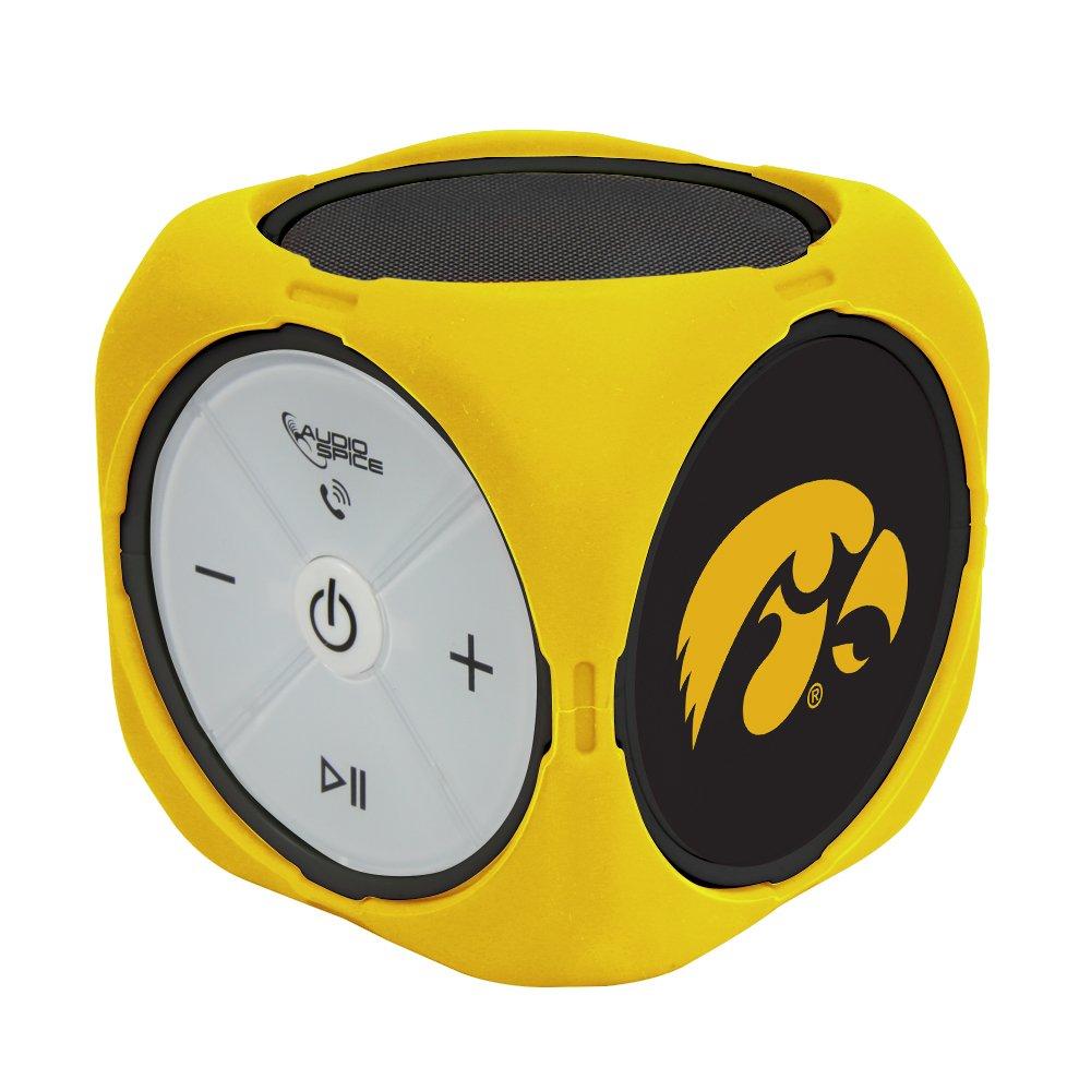 AudioSpice NCAA Iowa Hawkeyes MX-300 Cubio Bluetooth Speaker, Black, One Size