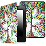 Fintie SmartShell Case for Kindle Paperwhite - The Thinnest and Lightest Leather Cover for All-New Amazon Kindle Paperwhite (Fits All versions: 2012, 2013, 2014 and 2015 New 300 PPI), Love Tree