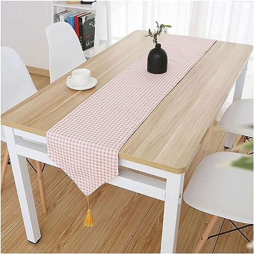 Caminos de mesa Elegante Mesa de Corredor Classic Pink Tassel ...
