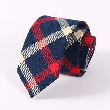 KYDCB 6,5 Cm Corbata de algodón Corbata a Rayas de Moda Azul ...