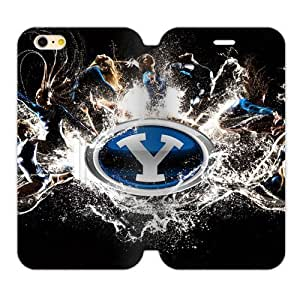 Generic Custom Extraordinary Best Design Brigham Young University NCAA BYU Cougars Teams Logo TPU and High Grade PU Leather Cover iPhone6