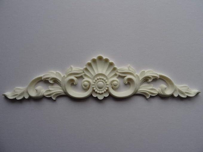 Decorative large wooden leaf scroll center furniture moulding appliques C107