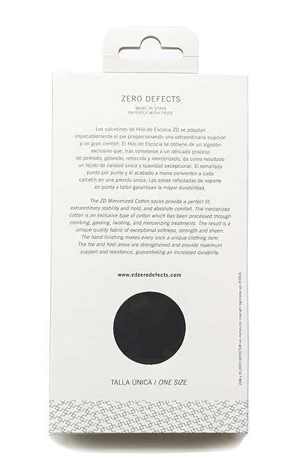 Calcetín Corto Ejecutivo Hombre-Zero Defects- Hilo de Escocia, sin costuras y reforzado | Color Negro - Talla Única: Amazon.es: Ropa y accesorios