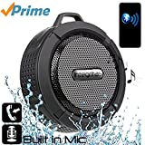 Bluetooth Speaker, Wireless Waterproof Speaker, Shower Speaker, Rechargeable battery speaker,Suction cup speaker, Built-in Mic, Hands-Free Speakerphone, Wireless speaker