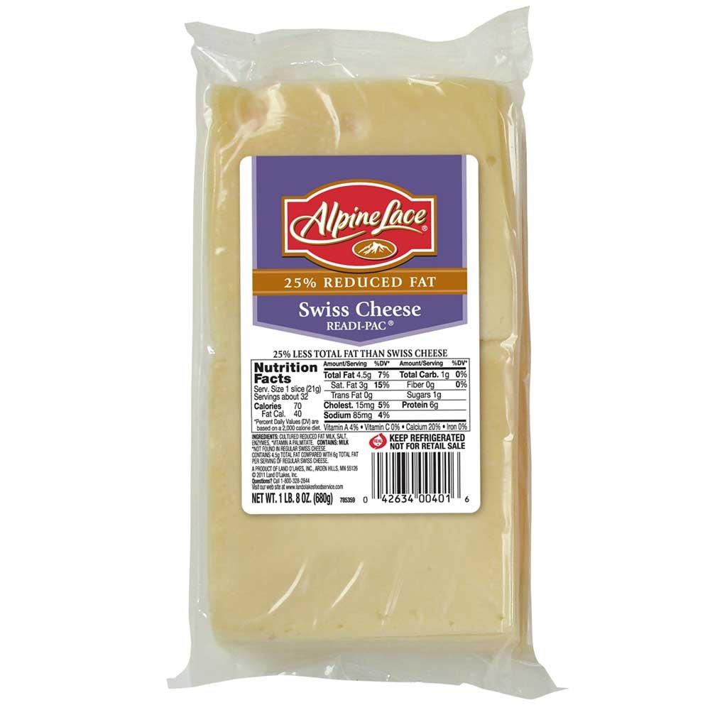 Land O Lakes Alpine Lace Readi-Pac Swiss Cheese Slice, 1.5 Pound -- 8 per case. by Land O Lakes (Image #1)