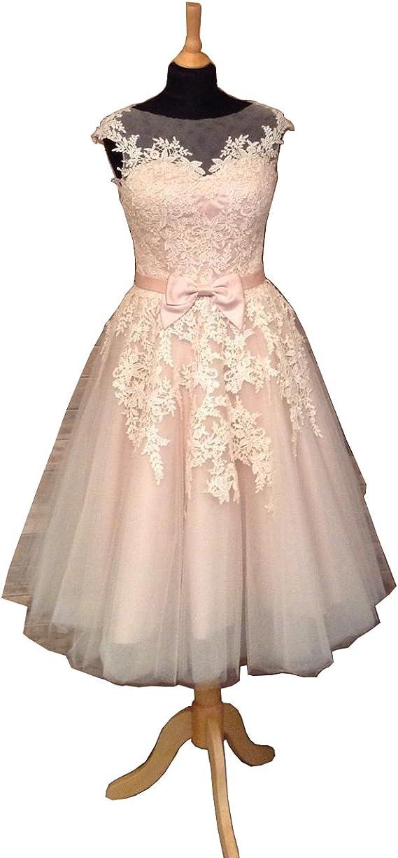 Amazon.com: caterinasara años 50 Vintage Vestido de boda ...