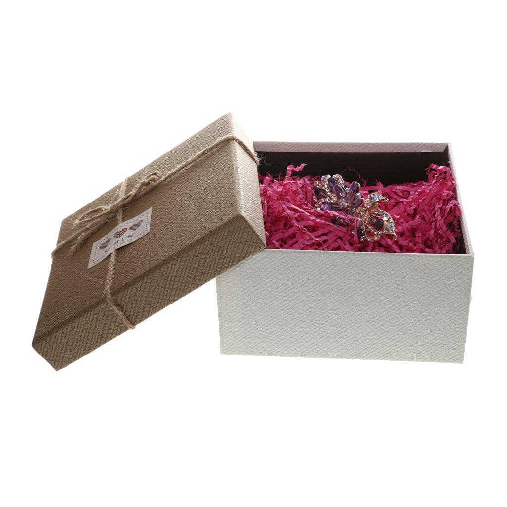 Jaune luxe panier shred cadeau box packaging-soft déchiqueté papier tissu