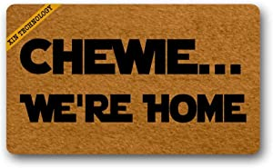 Artsbaba Welcome Doormat Chewie We're Home Door Mat Rubber Non-Slip Entrance Rug Floor Door Mat Funny Home Decor Indoor Mat 18 x 30 Inches