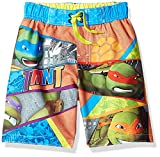 ninja turtles boys bathing suit - Nickelodeon Big Boys' Teeenage Mutant Ninja Turtles Swim Trunk, Sky Blue, 5/6