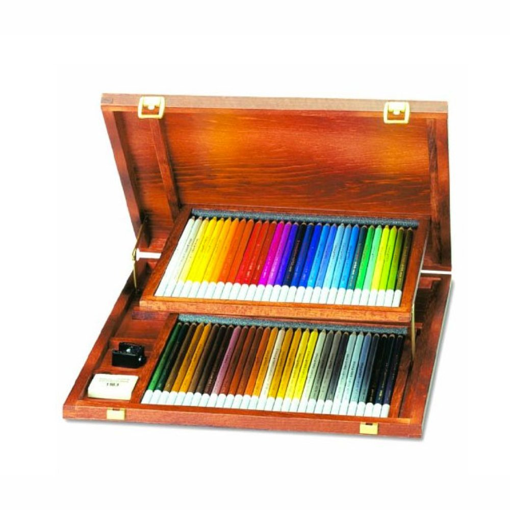 Carb Othello Pastel Pencil Set- 60 Pencils in a Wood Box