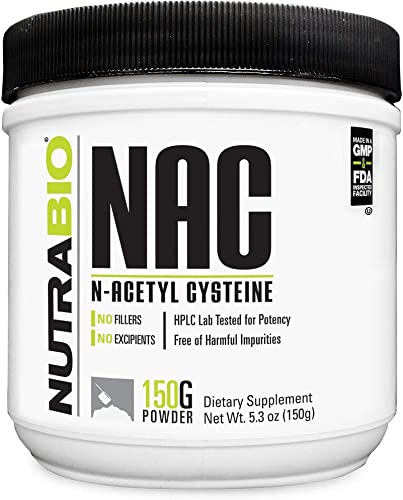 NutraBio N-Acetyl Cysteine Supplement NAC 150 Grams Powder, 600mg Serving