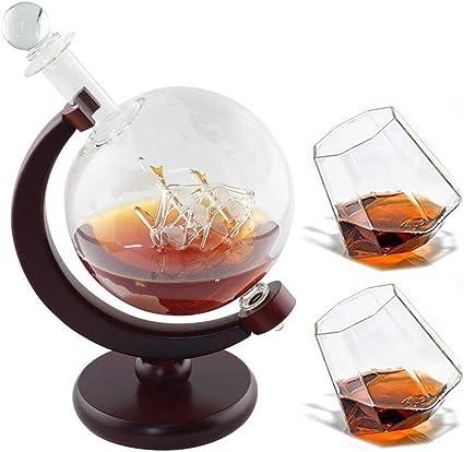 Mr. Fragile 1000 ml Decantador Whisky,con 2 Vasos de Whisky ...