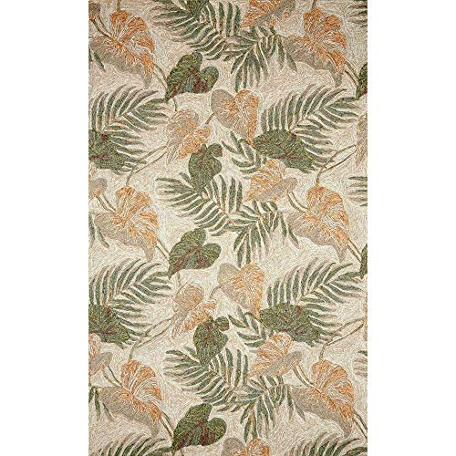Liora Manne RV057A23612 Ravella Tropical Leaf Indoor/Outdoor Rug, 5' X 7'6