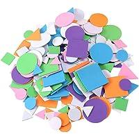 EXCEART 1250 Stks Kinderen Diy Foam Stickers Kinderen Eva Stickers Geometrische Vormige Kleurrijke Sticker Voor Hand…