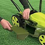 Sun Joe MJ408E 20-Inch 12-Amp Electric Lawn Mower + Mulcher, w/Side Discharge Chute 12 Maintenance free - No gas, oil or tune-ups Detachable grass catcher for easy disposal; Grass collection bag capacity: 14. 5 gal Best use: small to mid-sized lawns