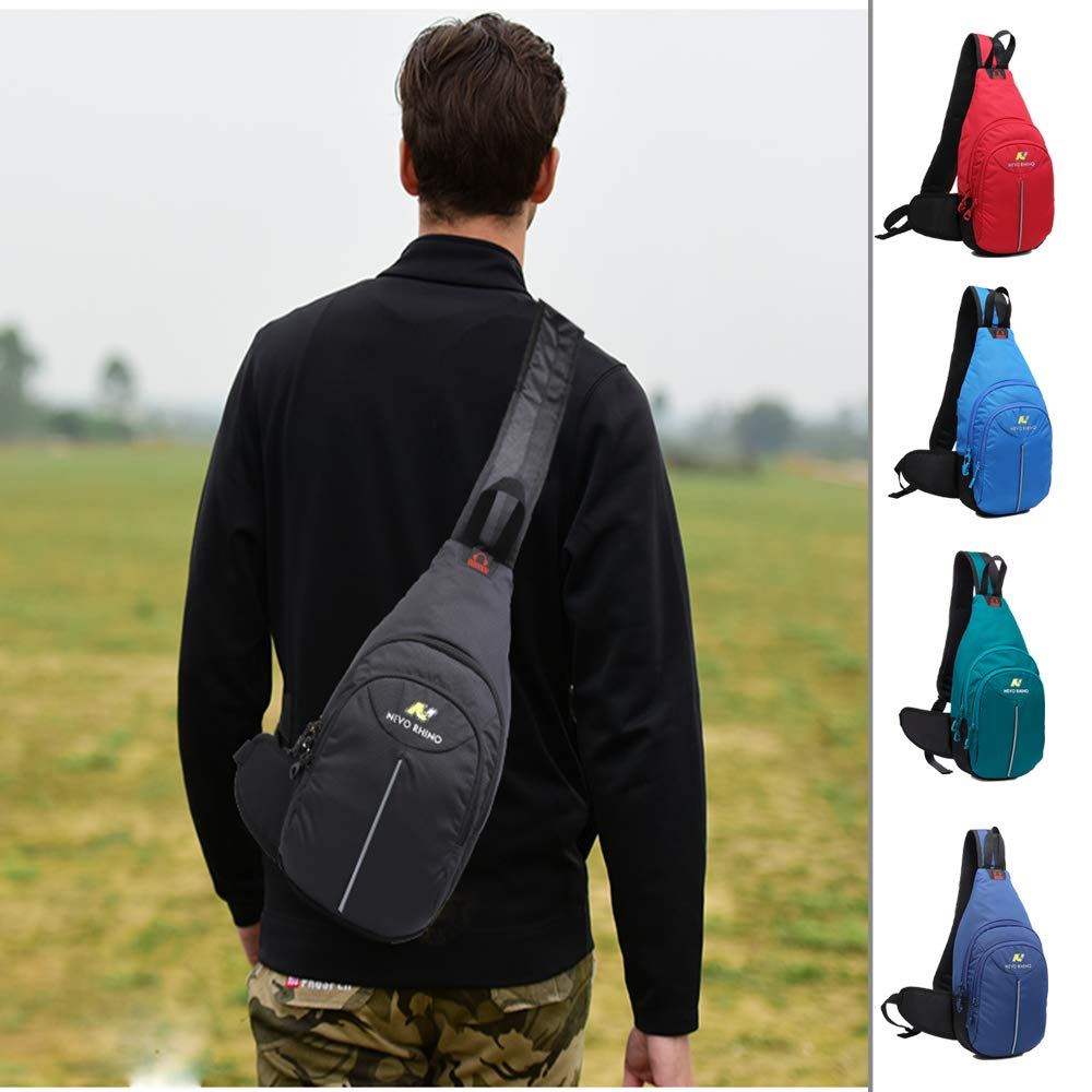 N NEVO RHINO Shoulder Backpack Sling Chest Crossbody Bag Cover Pack Rucksack for Men Women Bicycle Sport Hiking Travel Camping Bookbag