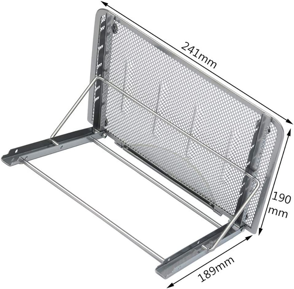 ac Silver //Laptop//Notebook Computer//Tablet Laptop Stand,Foldable Portable Ventilated Desktop Laptop Holder,Universal Lightweight Adjustable Ergonomic Tray Mount Compatible with 10-15.6 inch iM