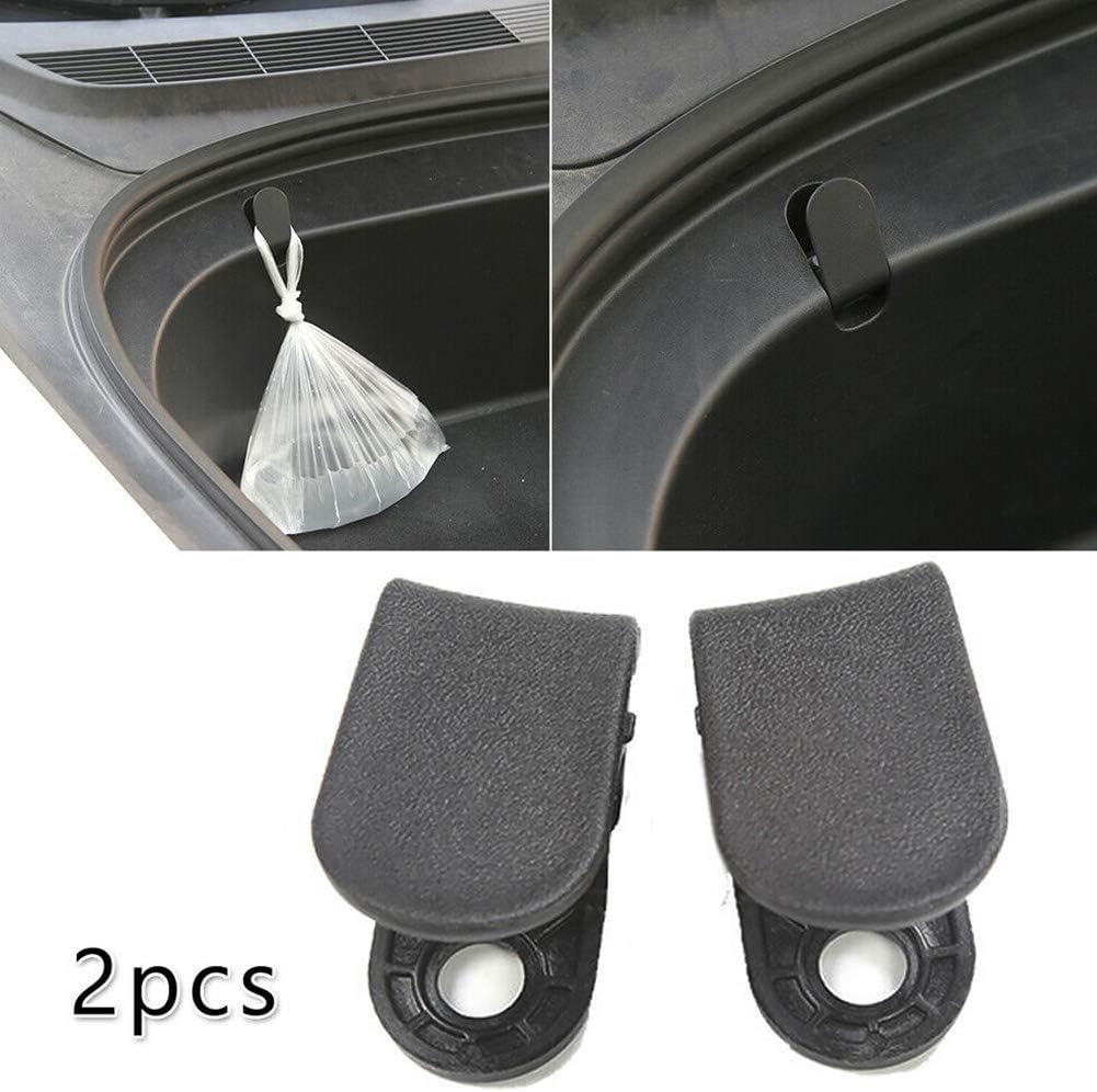 2pcs Front Trunk Hook Front Trunk Bag Hooks Trunk Organizer For Tesla Model 3 Wear Resistant Car Accessories Front Trunk Cargo Hooks