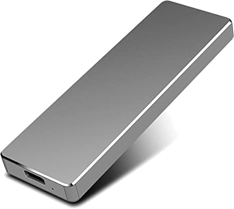 PAATE 1 TB External Hard Drive Portable Ultra Slim Type C USB 3.1 Hard Drive for PC 1tb, silver Desktop Mac Laptop Xbox Slim MacBook Chromebook
