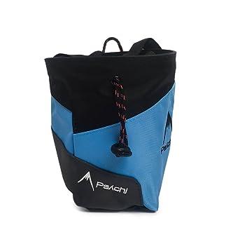 Bolsa de tiza Psychi Premium para escalada en roca con bolsillo trasero con cremallera y cinturón de cintura, azul: Amazon.es: Deportes y aire libre