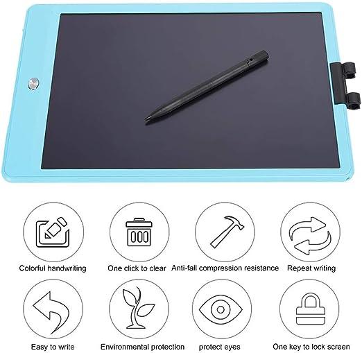 LCDライティングパッド、10インチLCDライティングボードカラフルな画面カラフルな厚い手書き落書きボード電子落書きパッド子供と大人のための描画ボード (青い)
