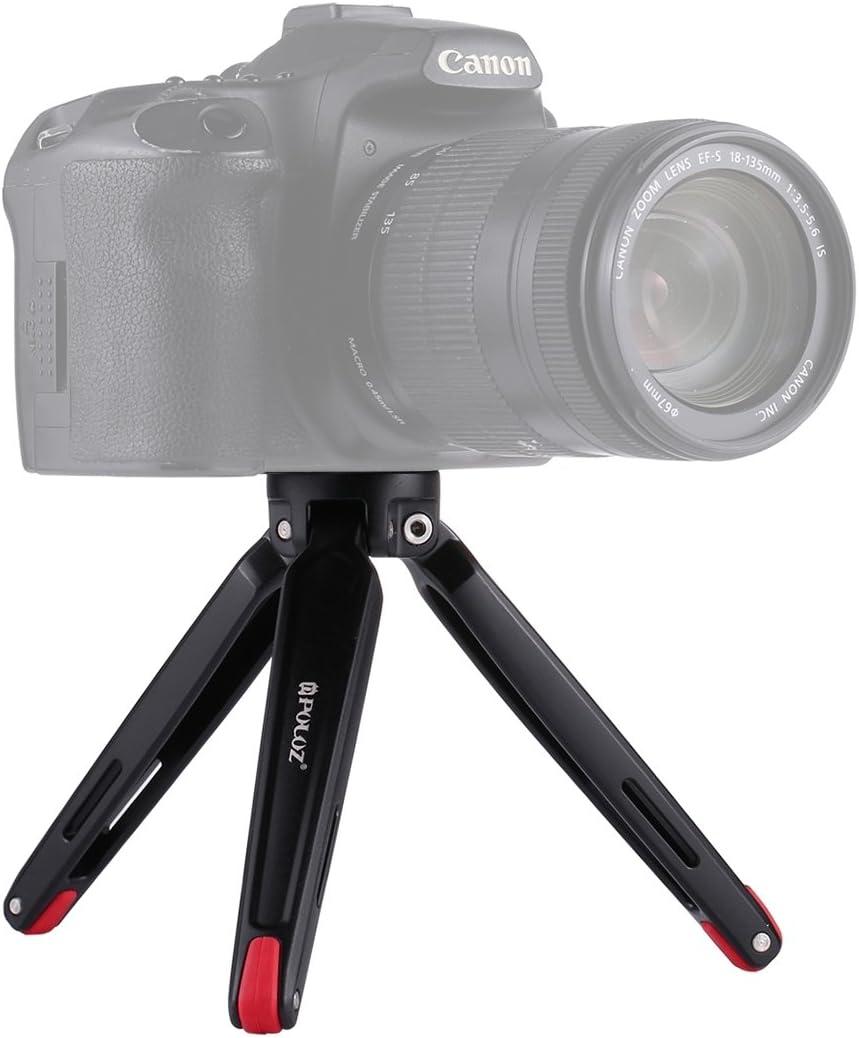 Adjustable Height: 4.5-15cm Perfect Home Convenience Durable Pocket Mini Metal Desktop Tripod Mount for DSLR /& Digital Camera Max Load: 20kg Durable Size : Desktop Tripod red