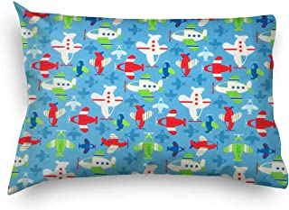 product image for SheetWorld Twin Pillow Case, 100% Cotton Woven 20 x 26, Baby Airplanes, Made in USA