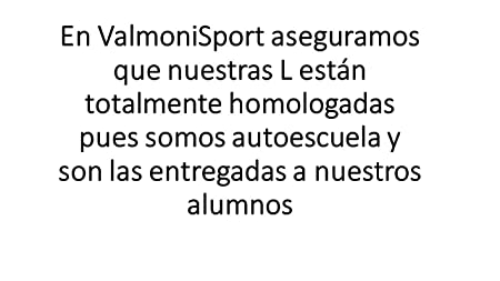 Valmoni Sport L Novel Pegatina para Exterior Ideal para Coches con Lunas tintadas Somos Autoescuela L Novel Pegatinas homologada L