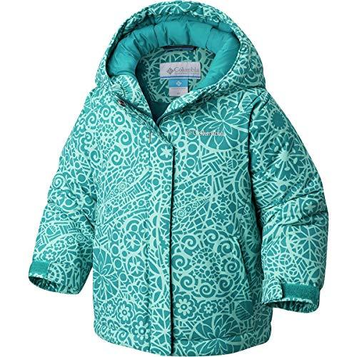 Columbia Girls' Toddler' Horizon Ride Jacket, Emerald Mod Lace, 3T (Toddler Jacket Snowboard Girls)