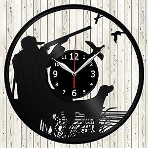 Black vinyl cutout clock
