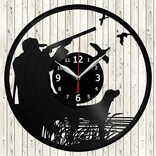 Duck Hunting Vinyl Record Wall Clock Decor Handmade Unique Original Gift