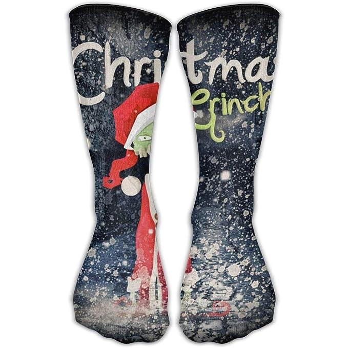 Qidsuf Christmas Santa Grinch Classics Personalized Socks Sport Athletic Stockings 30cm Long Sock For Men Women: Amazon.es: Ropa y accesorios