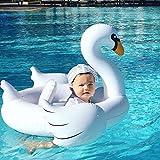 致暖Warmest 火烈鸟儿童游泳圈 儿童手臂圈 螃蟹水袖 加厚 宝宝游泳圈装备 (白天鹅泳圈(1-4岁))【Instagram网红款】